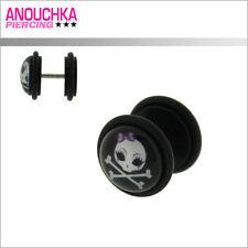Piercing Faux Plug en Acrylique Noir