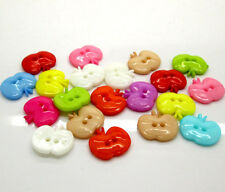 25 X Mixed Color Apple Nylon Buttons Fit Sewing Or Scrapbook UK