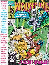 Wolverine 41 Cable Sabretooth UNREAD #34875 BRL1 1ST PRINT