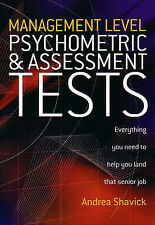 Management Level Psychometric and Assessment Tests by Andrea Shavick...