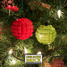 LEGO Christmas Tree Baubles - Pack of two Xmas holiday baubles (Custom kit)
