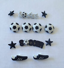 Soccer balls black boots stars Novelty Buttons by Dress It Up 418