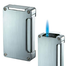 Visol Zidane Brushed Silver Torch Flame Cigar Lighter, New in Box