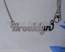 Brooklyn Name Necklaces. Next day ship.  NeverTarnishes. -USA seller