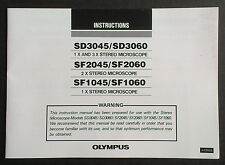 Olympus Instructions SD SF Stereomicroscope Anleitung