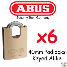 Padlocks KEYED ALIKE ABUS 40mm concealed Shackle x6  BULK LOT High quality
