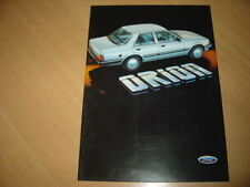 CATALOGUE Ford Orion 1985