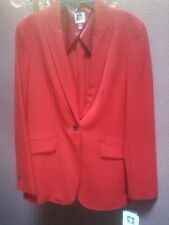 "ANNE KLEIN Red Blazer Wardrobe ""Must Have"" Mix/Match All Colors MSRP $129.00 Sz4"