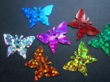 500+ wholesales shiny Multicolor flat sequins BUTTERFLIES acrylic loose beads