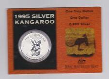 1995 1oz .999 Silver Coin $1 Kangaroo UNC Australia one ounce *