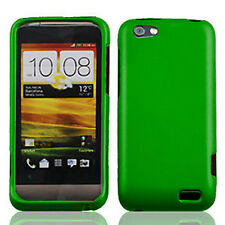 For Virgin Mobile HTC ONE V Rubberized HARD Case Phone Cover Rubber Dark Green