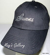 GUESS Jeans Baseball Hat Hats Rhinestones log NWT One size Cap Adjustable Black