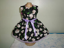 doll dress for 18 inch american girl light purple white hydrangea black 147