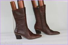 Bottines ROMANINI Cuir Marron Foncé T 39 BE