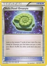 4 x Helix Fossil Omanyte (Trainer) (Fates Collide 102/124) - Uncommon - N. Mint