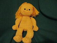 CLOTH SWEET DREAMS ABIGAIL DOLL 1973 HASBRO YELLOW CHECKED FABRIC