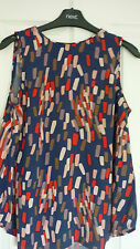 BODEN SHELL TOP in NAVY BLUE MULTI PAINTED GEO UK 10, EUR 36-38, US 6 NWOT WA700