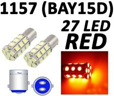 1157 BAY15D 27 SMD 5050 Plasma Red Tail Turn Signal 27 LED Car Light Bulb Lamp