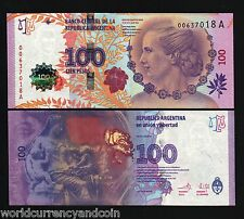 ARGENTINA 100 PESOS 2012 *COMMEMORATIVE* EVITA EVA PERON UNC WORLD CURRENCY NOTE