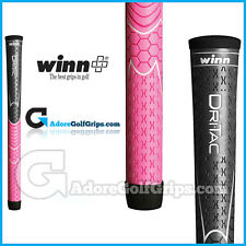 Winn Dri-Tac Undersize / Ladies Soft Feel Grips - Dark Grey / Pink x 3