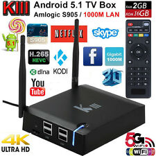 4K 3D K3 KIII Smart TV BOX IPTV Android 5.1 S905 2G+16G KODI 16 WIFI BT4.0 1000M