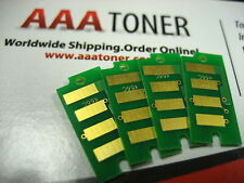 4 x (BCMY) Toner Reset Chip for Dell E525W Color Laser All-in-One Printer Refill
