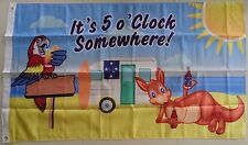 IT'S 5 O'CLOCK SOMEWHERE FLAG LARGE AUSTRALIAN FLAG CARAVAN 5 OCLOCK SOMEWHERE