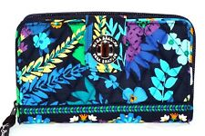 NEW VERA BRADLEY TURNLOCK WALLET MIDNIGHT BLUE