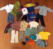 Mixed Lot 1 Vintage Ken Barbie Doll Clothes, Shoes Beach Flippers Casual Khakis