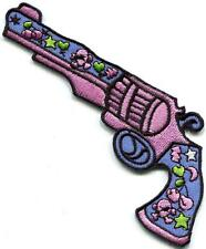 Love Gun flower power hippie embroidered applique iron-on patch new S-1325