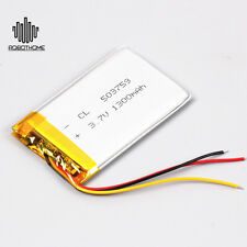 3.7V Li Polymer Battery 503759 1300mAh 3-Wire with Stable PCM Rechargeable