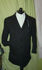 NWT TOMMY HILFIGER mens 3 button front charcoal 100% cashmere coat 42S $1,295