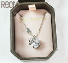 Juicy Couture Heart Banner Wish Necklace Clear with box