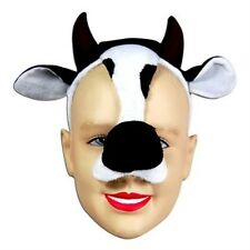 Cow Face Mask Animal Fancy Dress Costume With Sound Effect FX P1305