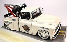 CHEVROLET STEPSIDE TOW TRUCK 1955 WHITE 1:24 BIG TIME KUSTOMS JADA 96401 NEW