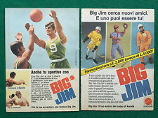 PB78 Pubblicità Advertising Clipping 19x13 cm (2 pezzi) MATTEL BIG JIM KARATE'