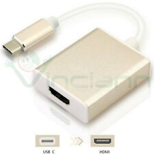 Adattatore audio video USB Type-C USB-C HDMI per Gionee Marathon M5 Plus S6 ATCH