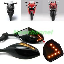 LED Turn Signals Rear View Mirrors For Suzuki Katana GSXR 600 750 1000 Hayabusa
