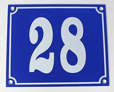 """Aluminium Numéro de maison"""" 28"""" 12x10cm bleu numéros bouclier immédiatement disponible Bouclier"""