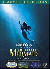 LITTLE MERMAID TRILOGY DVD BOX SET WALT DISNEY RETURN TO SEA ARIEL'S BEGINNING