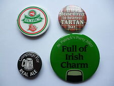 LOT OF 4 BREWERIANA RELATED PIN BUTTON BADGES