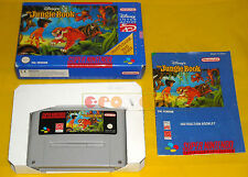 DISNEY'S THE JUNGLE BOOK Super Nintendo Snes Versione PAL Inglese ○○○○○ COMPLETO