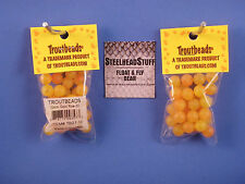 Troutbeads Gold Roe 8mm Trout Bead Egg Steelhead $2.50 US Combined Shipping