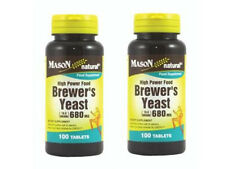 2X 100 = 200 TABLETS BREWER'S YEAST 680 mg 10.5 GRAIN ENERGY LOWER SUGAR BREWERS