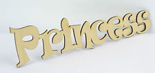 Plain PRINCESS Wooden Script Letter Sign/ Wall Plate/ Home Decor/ Door Sign