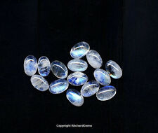 6x4 mm Oval Cut Rainbow Moonstone Cabochon For Three