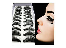 10 Pairs Soft Fashion Cross Handmade Eye Lashes Makeup Extension False Eyelashes