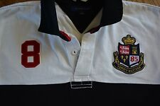 Vintage mens TOMMY HILFIGER Rugby Polo 85 Large EXCELLENT! vtg