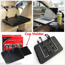 Car Steering Wheel Back Seat Tray Desk Laptop Table Foldable W/Drawer Cup Holder