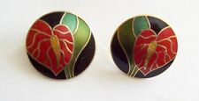 Pretty LAUREL BURCH Antherium Flower Earrings